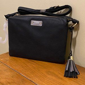 Black and Silver Cross-body w/Tassel NWT